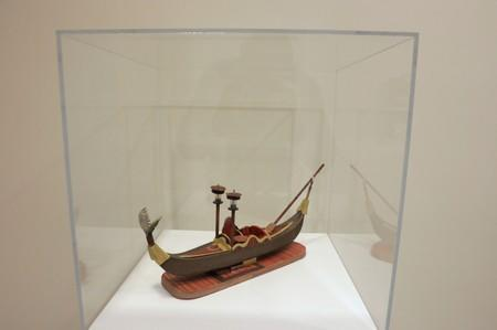 """FILE PHOTO: A model made by Al-Alwi while being detained at military facilities in Guantanamo Bay is displayed at an art exhibition named """"Ode to the Sea: Art from Guantanamo Bay"""" in New York"""