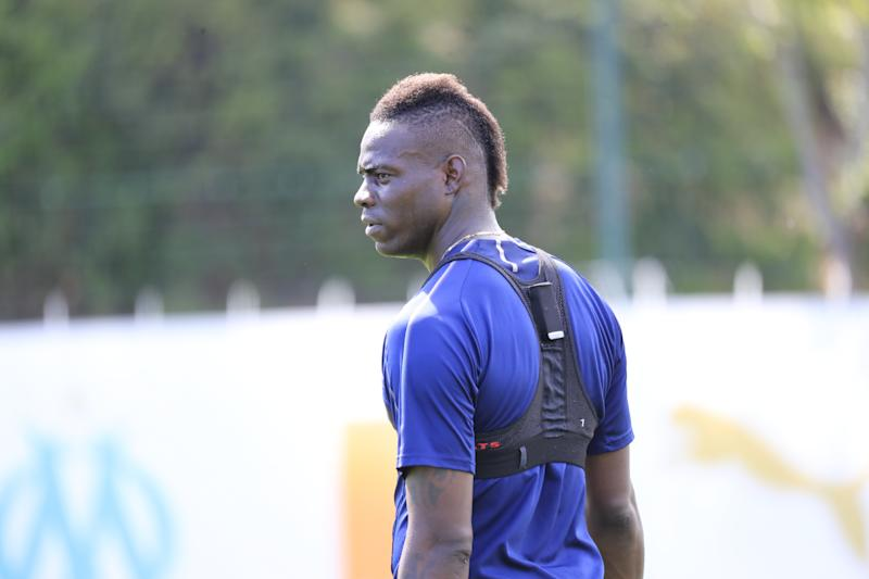 MARSEILLE, FRANCE - MAY 10: Mario Balotelli during an Olympique de Marseille training session at Centre Robert Louis-Dreyfus on May 10, 2019 in Marseille, France. (Photo by Guillaume Ruoppolo - OM/Olympique de Marseille via Getty Images)