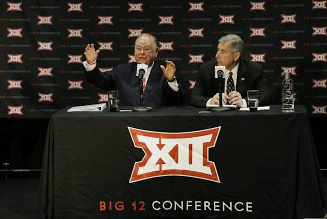 A photo sometimes says it all, and this onedid as the Big 12 Conference announced it would not expand. (AP)