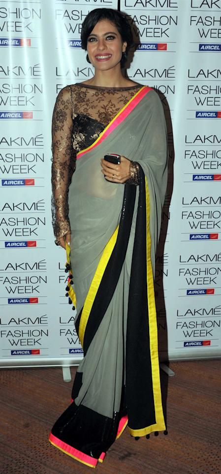The temperature rises high as Kajol sizzles in this Manish Malhotra design.