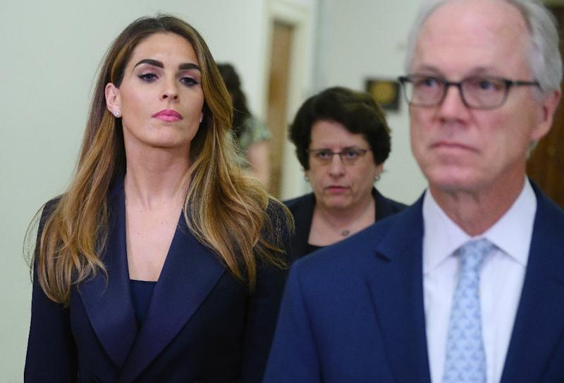 Ex-White House communications director Hope Hicks, once a confidante to President Donald Trump, testified in a closed session of the House Judiciary Committee, but Democrats said she refused to answer questions about her White House tenure