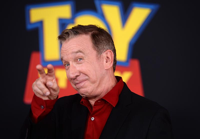 """LOS ANGELES, CALIFORNIA - JUNE 11: Tim Allen arrives at the premiere of Disney and Pixar's """"Toy Story 4"""" on June 11, 2019 in Los Angeles, California. (Photo by Amanda Edwards/WireImage)"""