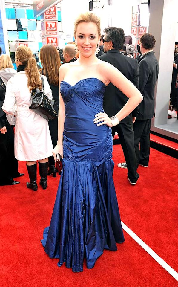"Did 17-year-old ""Desperate Housewives"" co-star Andrea Bowen wear this blue taffeta dress to her high school prom, too? Lester Cohen/<a href=""http://www.wireimage.com"" target=""new"">WireImage.com</a> - January 27, 2008"