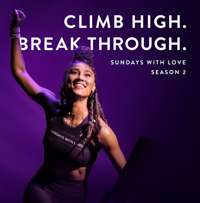 """Ally Love hosts Peloton's """"Sundays with Love"""" sessions in a way that helps build a community around fitness."""