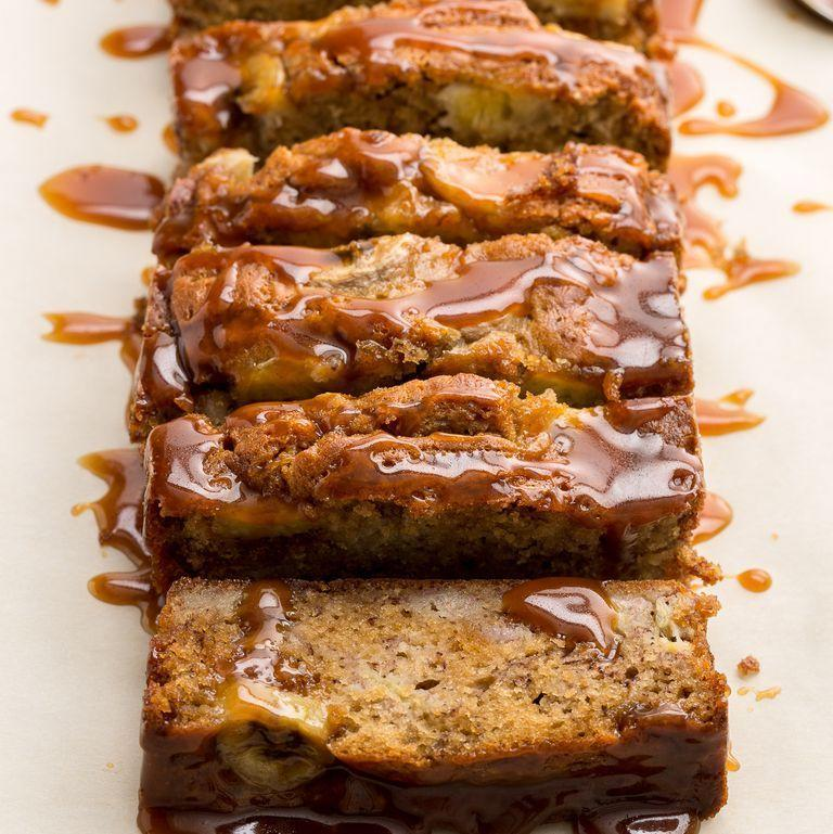 """<p>This banana bread gets a boost of sweetness from a salted caramel drizzle, and although it's worthy of the dessert table, you couldn't be blamed for sneaking a slice for breakfast. </p><p><strong><em>Get the recipe at <a href=""""https://www.delish.com/cooking/recipe-ideas/recipes/a46567/salted-caramel-banana-bread-recipe/"""" rel=""""nofollow noopener"""" target=""""_blank"""" data-ylk=""""slk:Delish"""" class=""""link rapid-noclick-resp"""">Delish</a>. </em></strong></p>"""