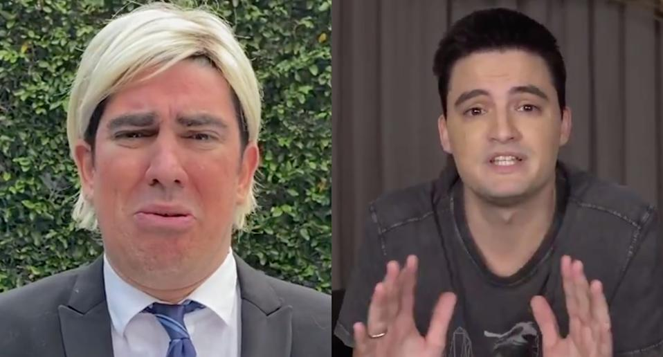 Trump de Marcelo Adnet responde críticas do youtuber Felipe Neto (Foto: Globoplay/New York Times Opinion)