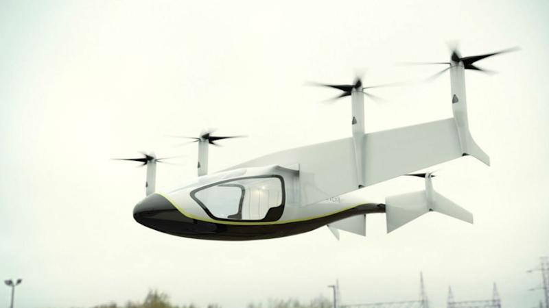 Hybrid electric vertical take-off and landing (EVTOL) by Rolls-Royce. Image: Rolls-Royce Twitter