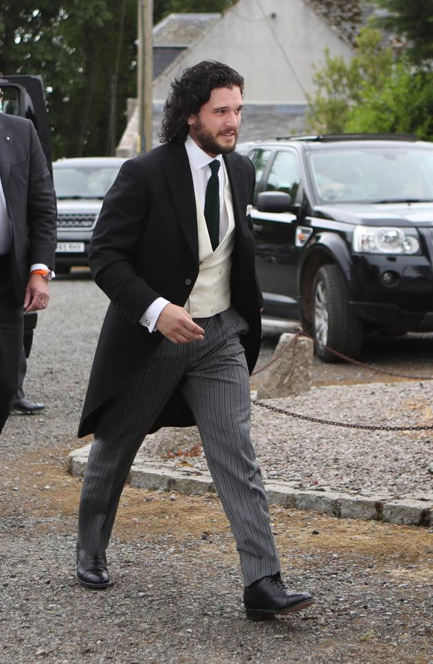 Kit Harington le 23 juin à Kirkton of Rayne.
