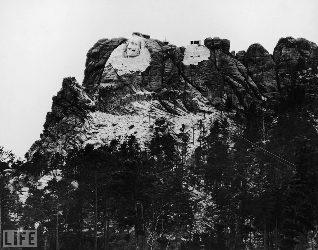 The selection of Mount Rushmore as the location of the memorial was no less controversial than the proposed Needles site. The United States seized the area -- which had been granted to the Lakota people in perpetuity in 1868 -- from the tribe after the Great Sioux War of 1876.October 31 marks the 70th anniversary of Mount Rushmore's completion. Photo: FPG/Getty Images