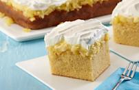 "<p>The flavors in this aloha cake will transport you straight to some of the <a href=""https://www.theactivetimes.com/travel/most-stunning-remote-islands-world?referrer=yahoo&category=beauty_food&include_utm=1&utm_medium=referral&utm_source=yahoo&utm_campaign=feed"" rel=""nofollow noopener"" target=""_blank"" data-ylk=""slk:most beautiful islands in the world"" class=""link rapid-noclick-resp"">most beautiful islands in the world</a>. Boxed cake mix is brought to the next level by coconut extract and crushed pineapple, two iconic tropical flavors.</p> <p><a href=""https://www.thedailymeal.com/recipes/aloha-cake-recipe-0?referrer=yahoo&category=beauty_food&include_utm=1&utm_medium=referral&utm_source=yahoo&utm_campaign=feed"" rel=""nofollow noopener"" target=""_blank"" data-ylk=""slk:For the Aloha Cake recipe, click here."" class=""link rapid-noclick-resp"">For the Aloha Cake recipe, click here.</a></p>"