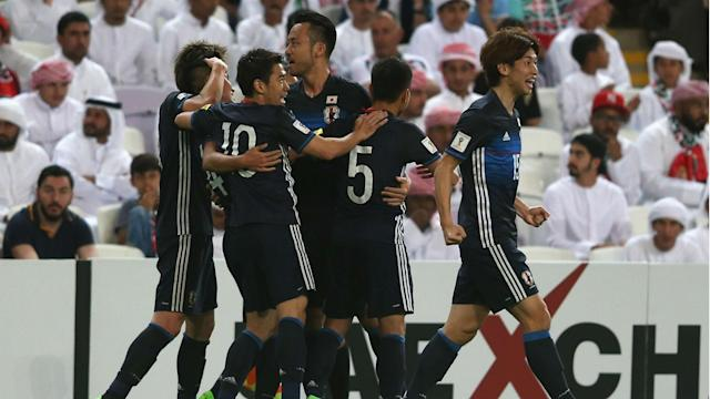 Yuya Kubo and Yasuyuki Konno struck for Japan as they moved back into automatic contention for World Cup qualification by beating UAE.