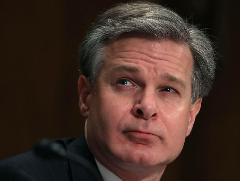 FBI Director Christopher A. Wray. (Photo: Mark Wilson/Getty Images)