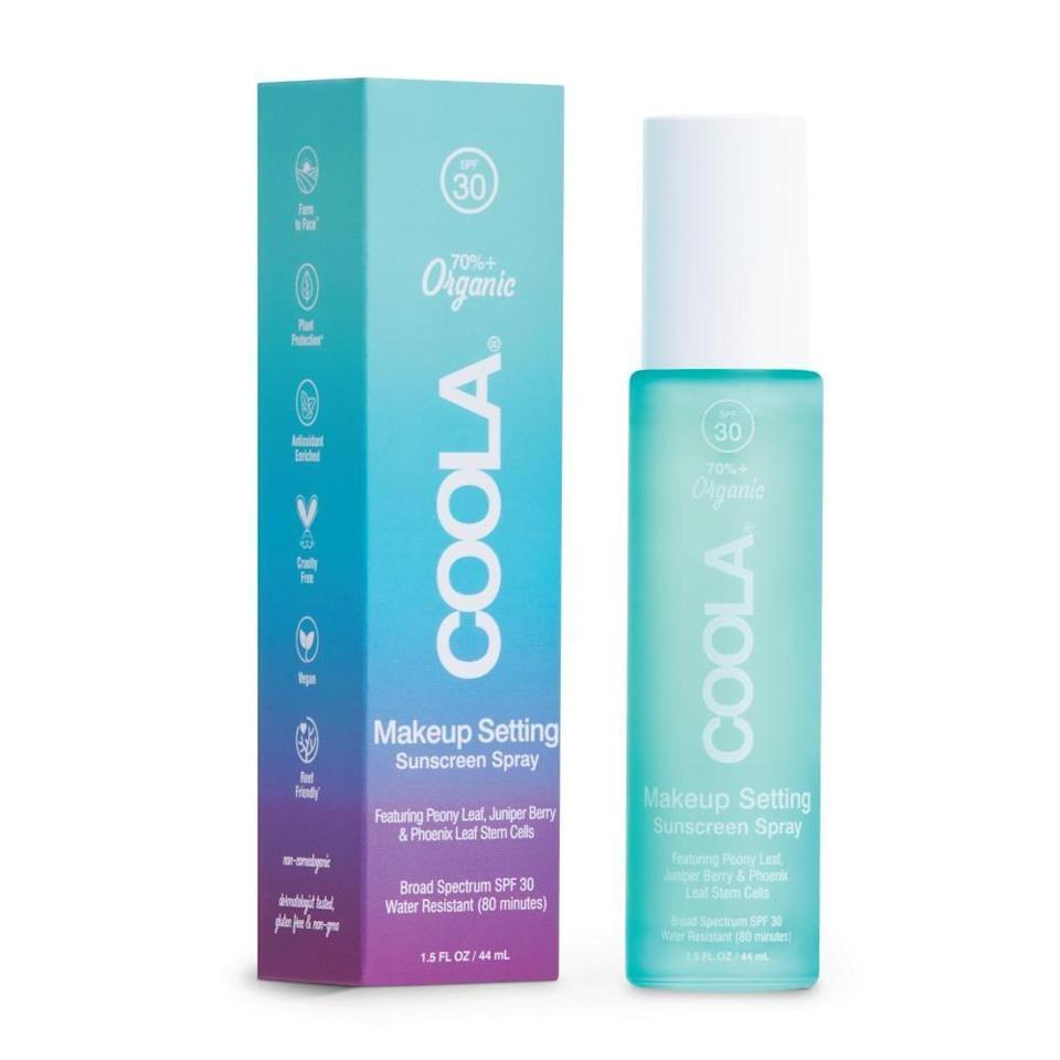 <p>The <span>Coola Makeup Setting Sunscreen Spray SPF 30</span> ($36) not only keeps your makeup looking fresh all day, but it also gives you a built-in layer of sun protection while hydrating skin with hyaluronic acid.</p>