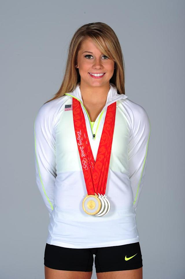 Gymnast Shawn Johnson poses for a portrait during the USOC Portrait Shoot at Smashbox West Hollywood on November 16, 2011 in West Hollywood, California.
