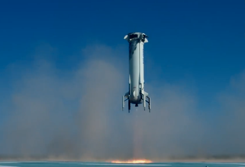 Blue Origin successfully lands both booster and crew capsule after test launch