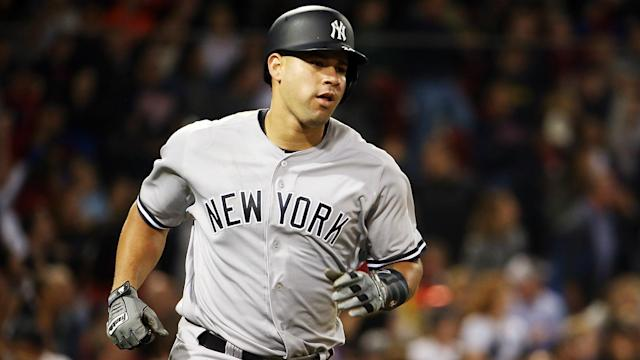 Gary Sanchez – who was added to Monday's Home Run Derby – homered a ball over the Green Monster in MLB action at Fenway Park.