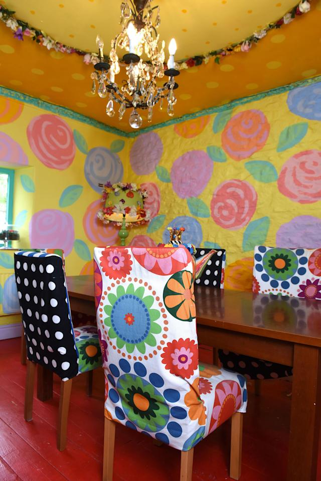 The loud, colourful decoration has made the house, which has been on the market since 2014, unsellable. (Mercury Press)