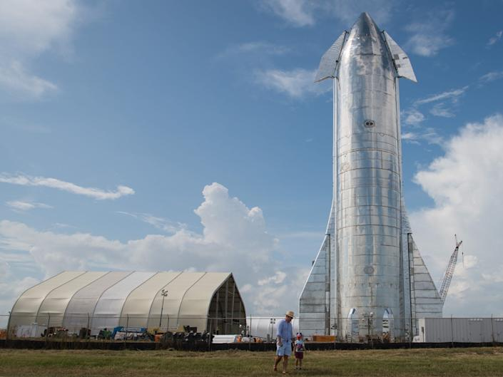spacex starship mark mk 1 mk1 steel spaceship prototype boca chica texas launch site 2019 09 29 GettyImages 1171862750