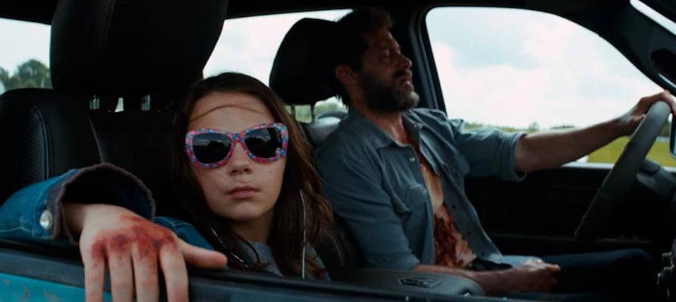 Dafne Keen and Hugh Jackman in Logan (20th Century Fox)