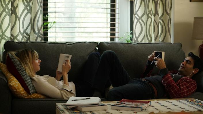 """Directed by Michael Showalter &bull; Written by Emily V. Gordon and Kumail Nanjiani<br><br>Starring&nbsp;Kumail Nanjiani, Zoe Kazan, Holly Hunter, Ray Romano and Aidy Bryant<br><br><strong>What to expect: </strong>Kumail Nanjiani's life story serves&nbsp;as ideal fodder for this delightful, bittersweet&nbsp;movie about a Pakistani-American comedian dating a white woman against his Muslim family's wishes. It has an Apatowian bent to it, given it was produced by Judd Apatow. The real star: Holly Hunter, whose name deserves to&nbsp;resurface in next year's Oscar race.<br><br><i><a href=""""https://www.youtube.com/watch?v=GX3Regj6nAg"""" rel=""""nofollow noopener"""" target=""""_blank"""" data-ylk=""""slk:Watch the trailer"""" class=""""link rapid-noclick-resp"""">Watch the trailer</a>.</i>"""