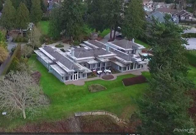 <p>No. 8: (tie) <span>2165 123 Street, Surrey, B.C.</span><br> List price: $28,000,000<br> This 9,000-square-foot ranch-style home (plus 3,000-square-foot basement) sits on 2.85 acres of oceanfront estate. It has everything you'd look for in a home at this price: five bedrooms, seven bathrooms, an outdoor pool and lots of grand, airy spaces in the home. (Photo: Point2Homes) </p>
