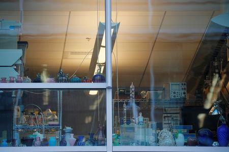 Equipment sits in the window of a lab at the Massachusetts Institute of Technology (MIT) in Cambridge, Massachusetts, U.S., November 21, 2018. REUTERS/Brian Snyder
