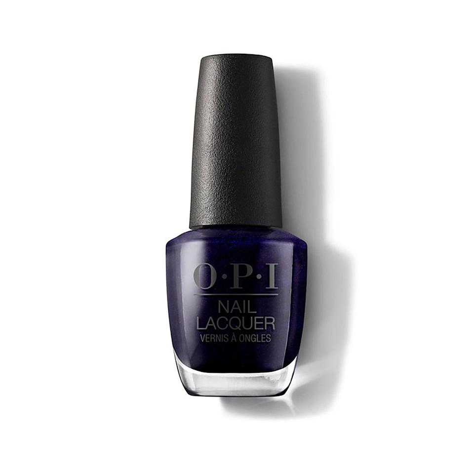 """<p>In a sea of blue hues, there is one shade that stands out. Elle calls indigo — particularly the shimmering OPI Nail Lacquer in Russian Navy — a statement-making nail polish color.</p> <p><strong>$11</strong> (<a href=""""https://shop-links.co/1692775577547764324"""" rel=""""nofollow noopener"""" target=""""_blank"""" data-ylk=""""slk:Shop Now"""" class=""""link rapid-noclick-resp"""">Shop Now</a>)</p>"""