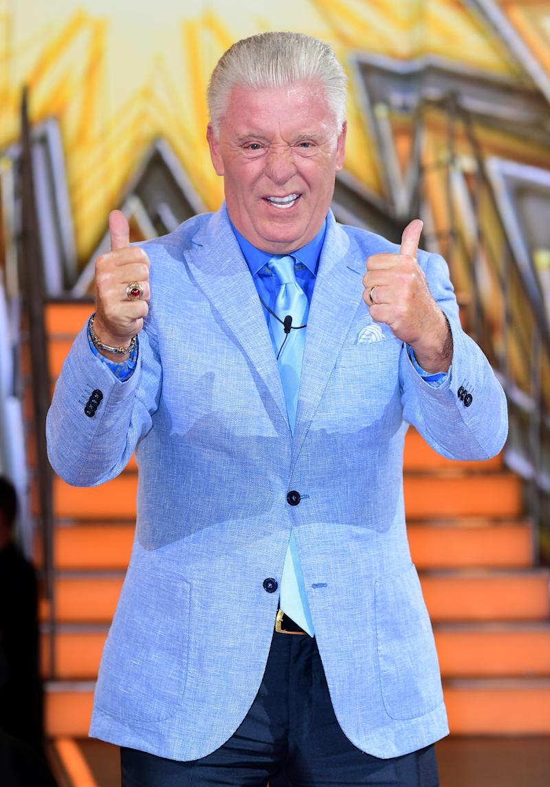 Derek Acorah is evicted during the live final of Celebrity Big Brother, at Elstree Studios in Borehamwood, Hertfordshire. (Photo by Ian West/PA Images via Getty Images)