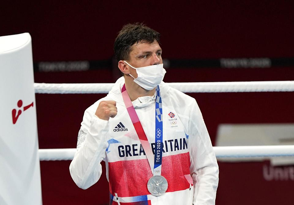 Pat McCormack won silver in the ring (Adam Davy/PA) (PA Wire)