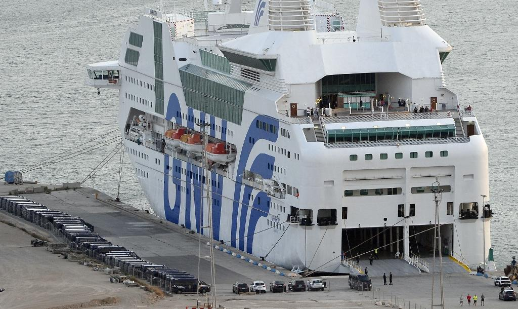Three cruise ships, with a combined capacity for 6,600 passengers, will house extra officers in Catalonia (AFP Photo/Josep LAGO)