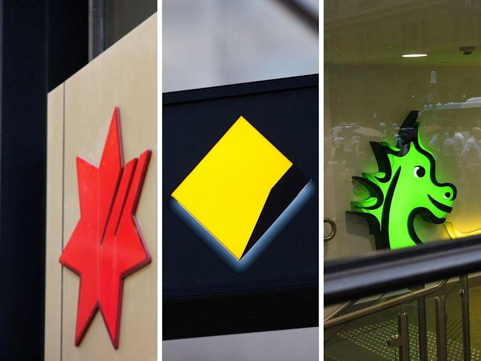 Scammers are pretending to be NAB, CBA and St George Bank in order to steal your personal details and your money. <i>(Photos: Getty, AAP)</i>