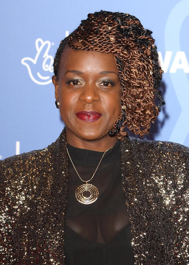 Tameka Empson attends the National Lottery Awards 2019 held at BBC Wood Lane in London. (Photo by Keith Mayhew/SOPA Images/LightRocket via Getty Images)