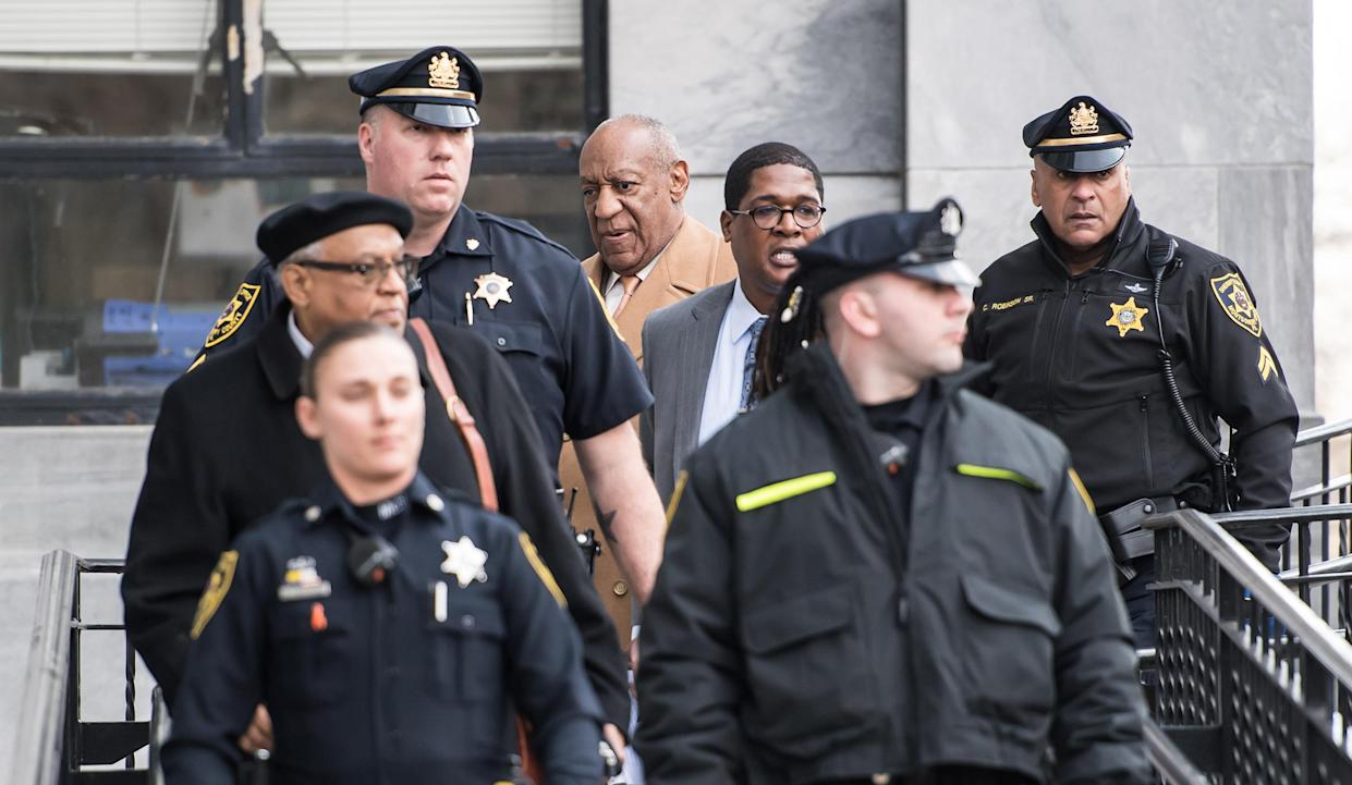 Cosby appearing in court. (Getty)