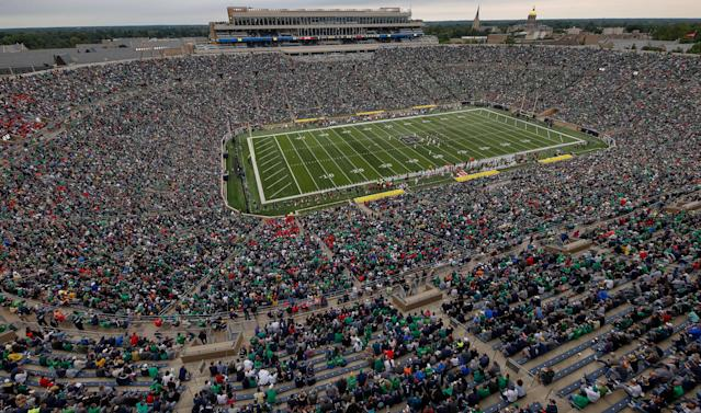 Notre Dame Stadium will have a soccer field in the middle of it this summer. (Getty Images)