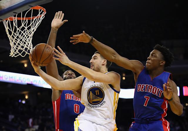 Klay Thompson might be No. 4 in the Warriors' pecking order, but he's still really, really good. (Getty Images)