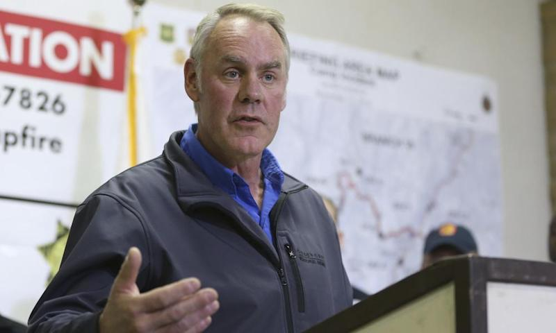 'There's too much dead and dying timber in the forest, which fuels these catastrophic fires,' Zinke said.