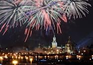 <p>One popular Russian New Year's tradition is to write down a wish, burn it, put the ashes in a glass of champagne, and drink up. Participants have to finish their drink before the clock turns 12:01 or else the wish won't come true.</p>