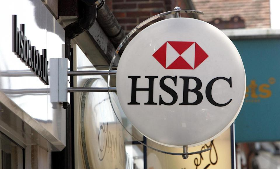 A sign for a branch of HSBC (PA Wire)