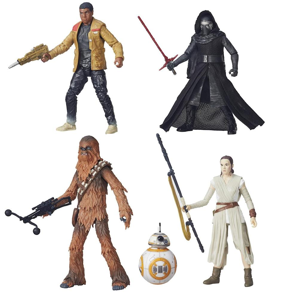 <p>These are some of Hasbro's highly detailed 'Black Series' 6-inch figures. (Also, Walmart is selling a handful of 3-inch Black Series toys, exclusively.)</p>