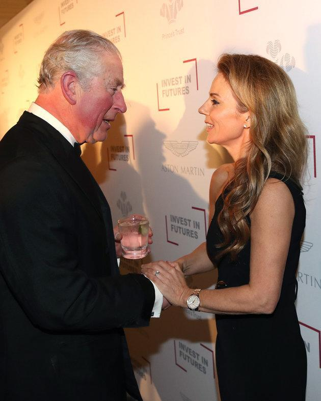 Prince Charles and Geri Horner at the Prince's Trust event