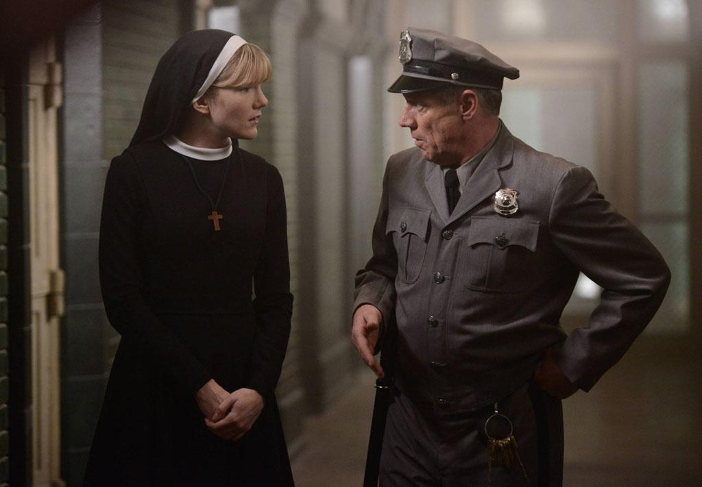 "Lily Rabe as Sister Mary Eunice and Fredric Lehne as Frank in the ""American Horror Story: Asylum"" episode, ""Dark Cousin."""
