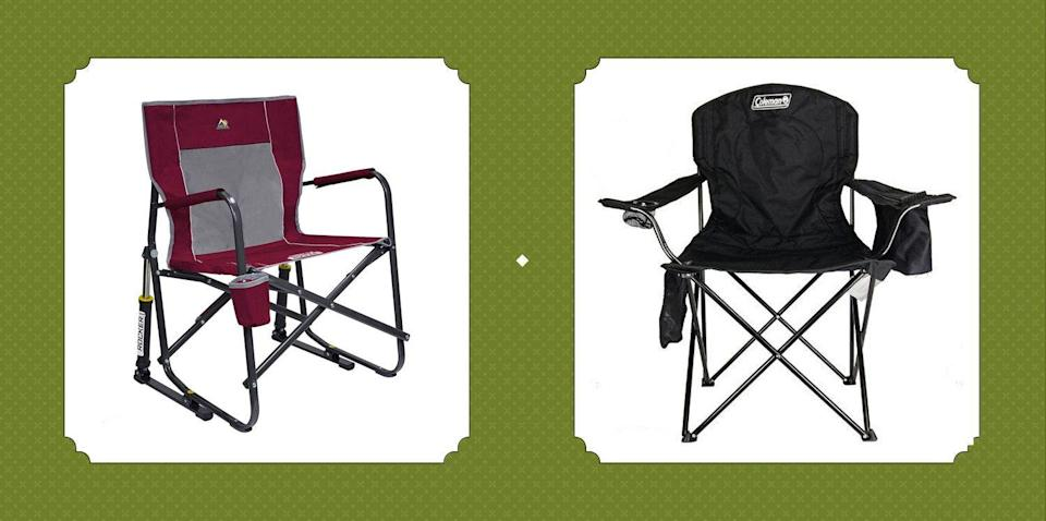 "<p>We've scoured the web, we've compared prices, we've looked for cool features and comfy add-ons—and now, we're sharing the best camping chairs (including folding and lightweight options) with you here. Most of you know that a good camping chair is hard to find, especially when a certain kind of chair is required for a specific environment. Whether you're planning to <a href=""https://www.countryliving.com/life/travel/g4452/best-places-to-camp-national-parks/"" rel=""nofollow noopener"" target=""_blank"" data-ylk=""slk:camp in a national park"" class=""link rapid-noclick-resp"">camp in a national park</a> or looking for some <a href=""https://www.countryliving.com/entertaining/g27274046/backyard-tent-camping/"" rel=""nofollow noopener"" target=""_blank"" data-ylk=""slk:backyard camping ideas"" class=""link rapid-noclick-resp"">backyard camping ideas</a>, a camping chair will have your back, literally. <br></p><p>Luckily for you, we get it. That's why we've taken the time to find the best camping chairs of your dreams. And they also happen to be affordable and well within any camper's budget. Some even boast nifty elements you never knew you needed, like bug guards, built-in head cushions, sun umbrellas, and attachable tables. Some of these chairs are so lightweight and fold up so compactly that you might even lose it among your other camping gear! We're hoping these chairs will keep you comfortable when you need a quick break along one of <a href=""https://www.countryliving.com/life/travel/g24487731/best-hikes-in-the-us/"" rel=""nofollow noopener"" target=""_blank"" data-ylk=""slk:the best hikes in the U.S."" class=""link rapid-noclick-resp"">the best hikes in the U.S.</a>, have your hand at cards after hours, or while you're enjoying some of the <a href=""https://www.countryliving.com/food-drinks/g2444/campfire-recipes/"" rel=""nofollow noopener"" target=""_blank"" data-ylk=""slk:best camping recipes"" class=""link rapid-noclick-resp"">best camping recipes</a> after a long day of physical activity. </p>"