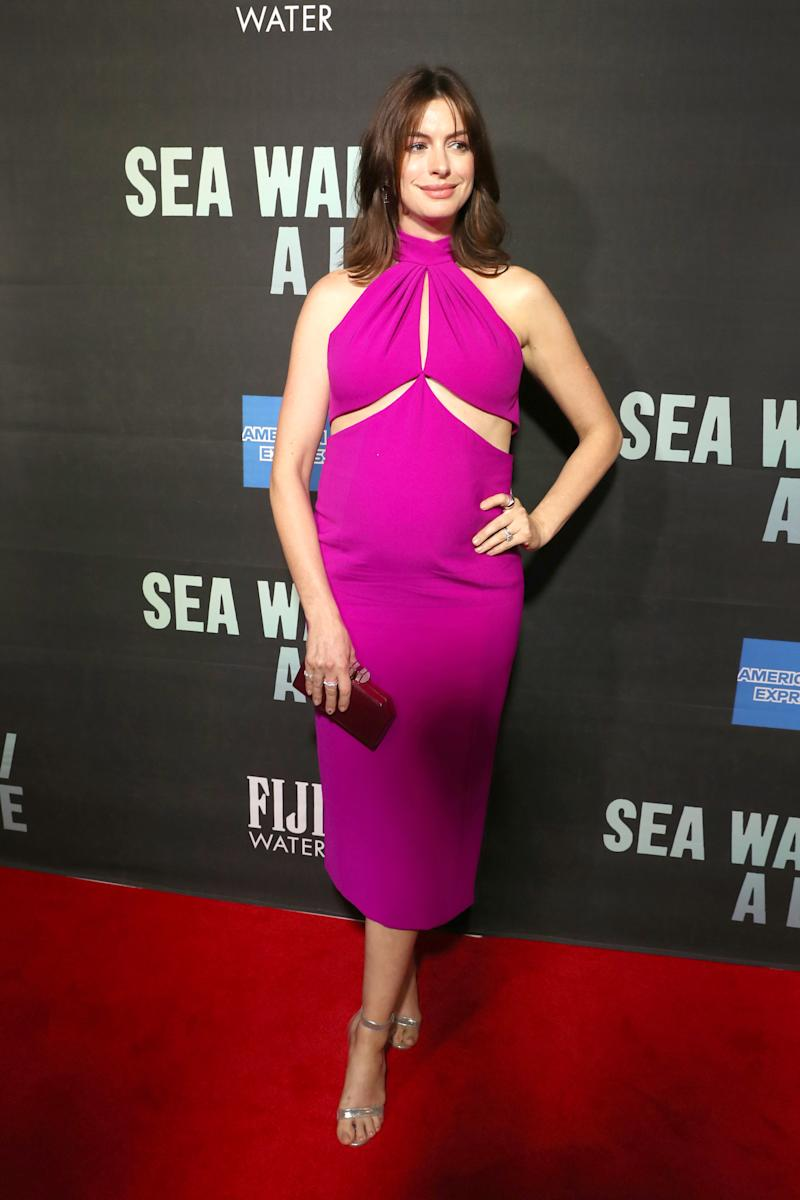 Anne Hathaway at the Sea Wall / A Life opening night on Broadway [Photo: Getty]