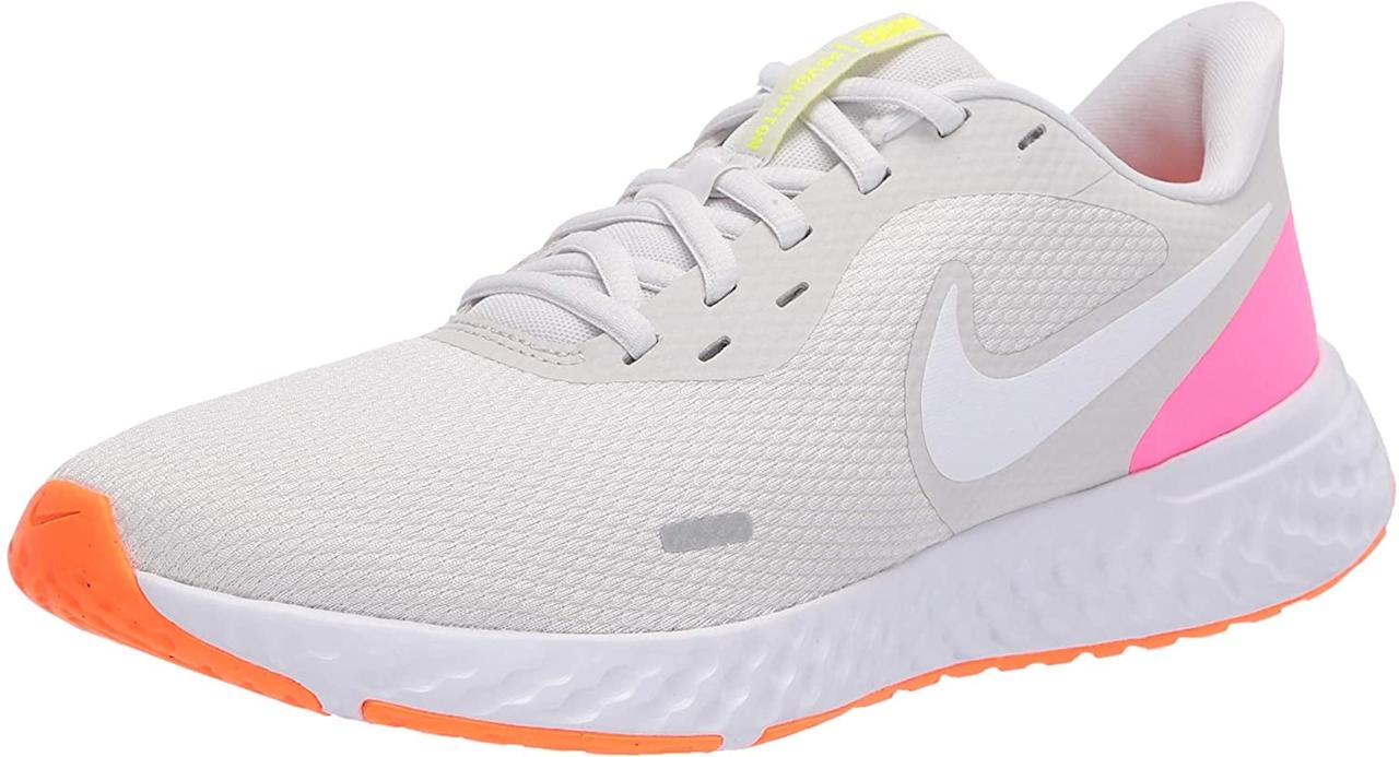 """<p>Wear these <product href=""""https://www.amazon.com/Nike-Revolution-Running-Anthracite-Regular/dp/B07RGM665J/ref=sxin_9_ac_d_rm?ac_md=2-1-d29tZW5zIG5pa2Ugc25lYWtlcnM%3D-ac_d_rm&amp;cv_ct_cx=womens%2Bnike%2Brunning%2Bshoes&amp;dchild=1&amp;keywords=womens%2Bnike%2Brunning%2Bshoes&amp;pd_rd_i=B07NLCDF69&amp;pd_rd_r=89c7aecf-6282-4ca2-9653-cf5c14ed46f3&amp;pd_rd_w=JpvJK&amp;pd_rd_wg=0ZHhE&amp;pf_rd_p=3d1a8341-be16-45b1-ae3d-ba8c533ec9f0&amp;pf_rd_r=XXMNMBJY9N3Q8VG6C0HQ&amp;qid=1600973913&amp;s=apparel&amp;sr=1-2-12d4272d-8adb-4121-8624-135149aa9081&amp;th=1&amp;psc=1"""" target=""""_blank"""" class=""""ga-track"""" data-ga-category=""""internal click"""" data-ga-label=""""https://www.amazon.com/Nike-Revolution-Running-Anthracite-Regular/dp/B07RGM665J/ref=sxin_9_ac_d_rm?ac_md=2-1-d29tZW5zIG5pa2Ugc25lYWtlcnM%3D-ac_d_rm&amp;cv_ct_cx=womens%2Bnike%2Brunning%2Bshoes&amp;dchild=1&amp;keywords=womens%2Bnike%2Brunning%2Bshoes&amp;pd_rd_i=B07NLCDF69&amp;pd_rd_r=89c7aecf-6282-4ca2-9653-cf5c14ed46f3&amp;pd_rd_w=JpvJK&amp;pd_rd_wg=0ZHhE&amp;pf_rd_p=3d1a8341-be16-45b1-ae3d-ba8c533ec9f0&amp;pf_rd_r=XXMNMBJY9N3Q8VG6C0HQ&amp;qid=1600973913&amp;s=apparel&amp;sr=1-2-12d4272d-8adb-4121-8624-135149aa9081&amp;th=1&amp;psc=1"""" data-ga-action=""""body text link""""> Nike Revolution 5 Running Shoes </product> ($77-$85) during your next run. The breathable fabric helps give your feet air, while its rubber insole keeps them comfy.</p>"""
