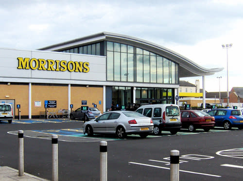 The Morrison's in Byker, Newcastle, from where the thief made off with the trees (Twitter)