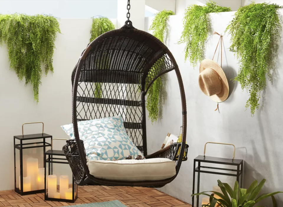 You'll have to force yourself to not spend all day in this hanging chair. (Photo: Pier 1)