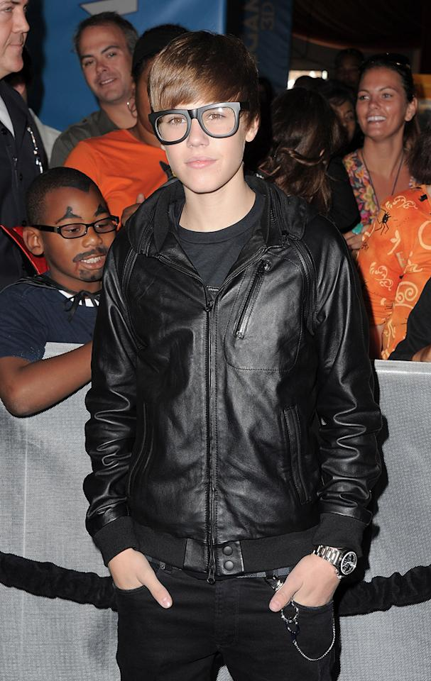 """<a href=""""http://movies.yahoo.com/movie/contributor/1810162952"""">Justin Bieber</a> at the Los Angeles premiere of <a href=""""http://movies.yahoo.com/movie/1809998238/info"""">Megamind</a> on October 30, 2010."""