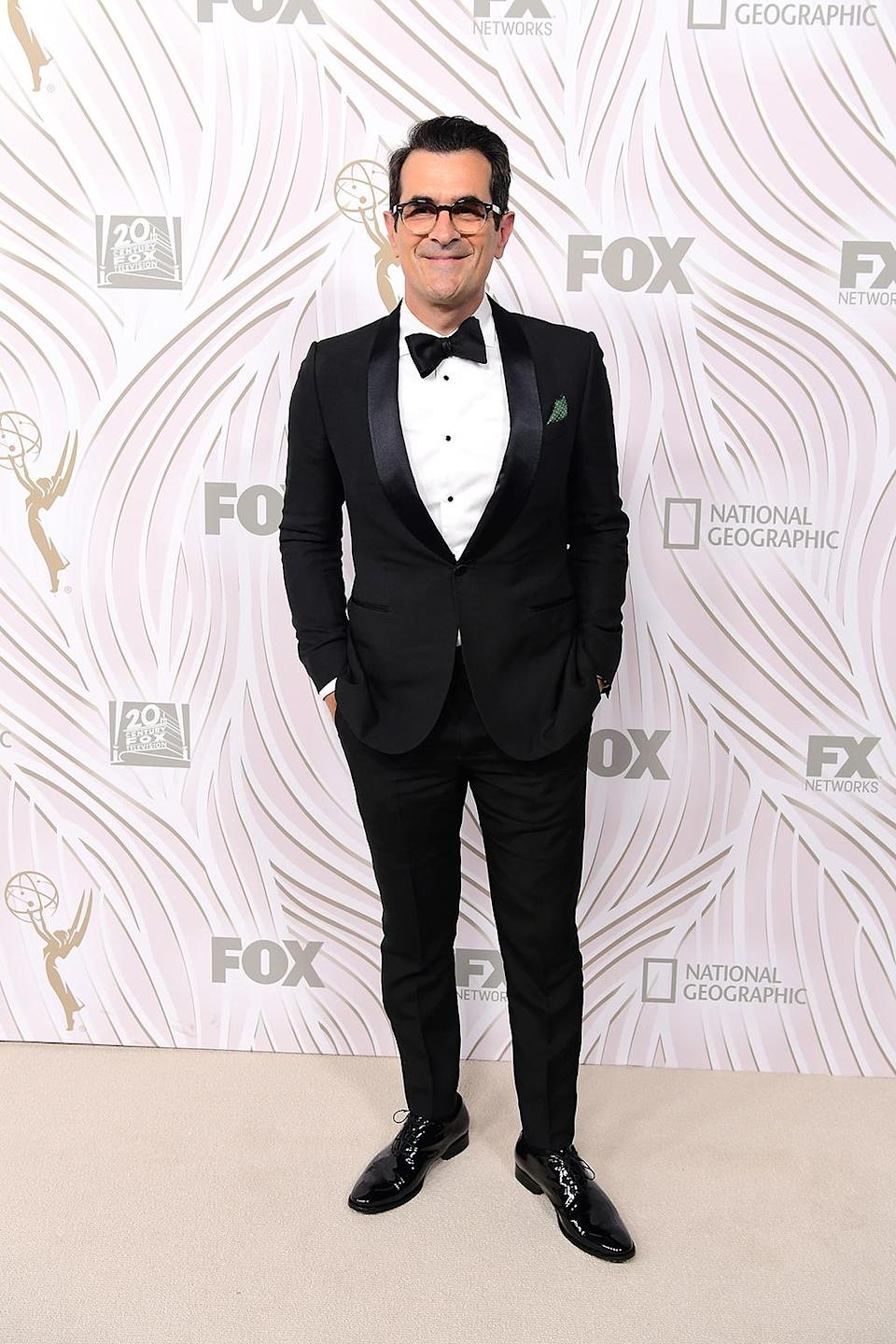 <p>Ty Burrell attended the Fox Broadcasting Co., Twentieth Century Fox Television, FX, and <em>National Geographic</em> after-party at Vibiana. (Photo: Emma McIntyre/Getty Images) </p>