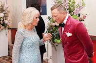 <p>Nor was Camilla, who was deep in conversation with the actor. </p>