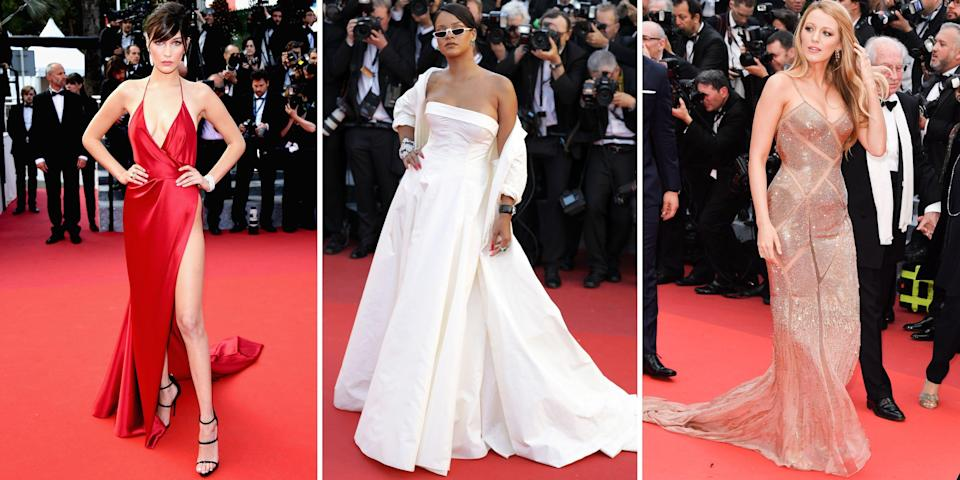 <p>Cannes Film Festival is undoubtedly one of the most glamorous red carpet events of the year. For ten days straight, Hollywood's A-list, supermodels, and the European elite descend upon the South of France in the most stunning couture confections. It is not the time to be minimal or understated, unless you want to get lost in the sea of sequin-embellished mermaid dresses and sweeping princess gowns. Although the iconic film festival has been postponed this year due to COVID-19, we're still looking back on the most impactful gowns to walk la croisette.</p>